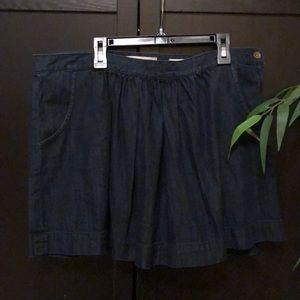 Madewell dark denim full mini skirt pockets 31